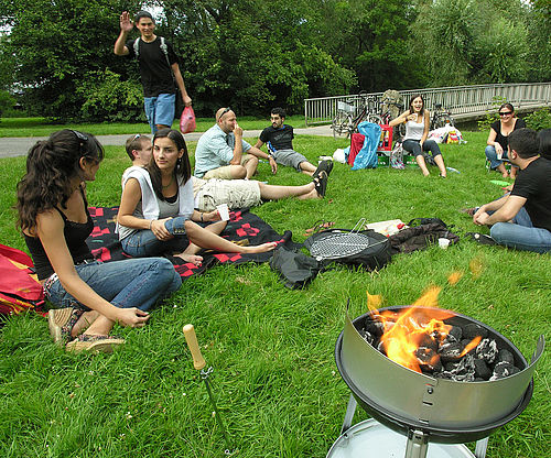 ESN barbecue in the park