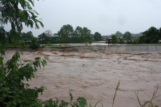 Flash flood Nan river basin