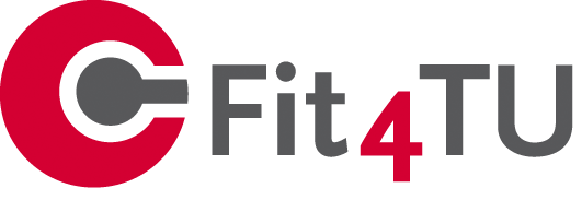 Logo Fit4TU rot grau transparent