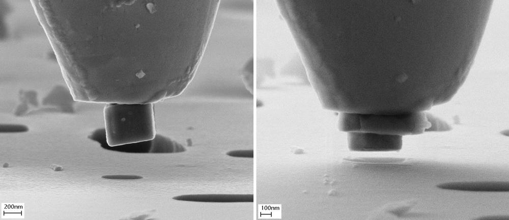 Nanopartikel nach dem Gesenkformen.