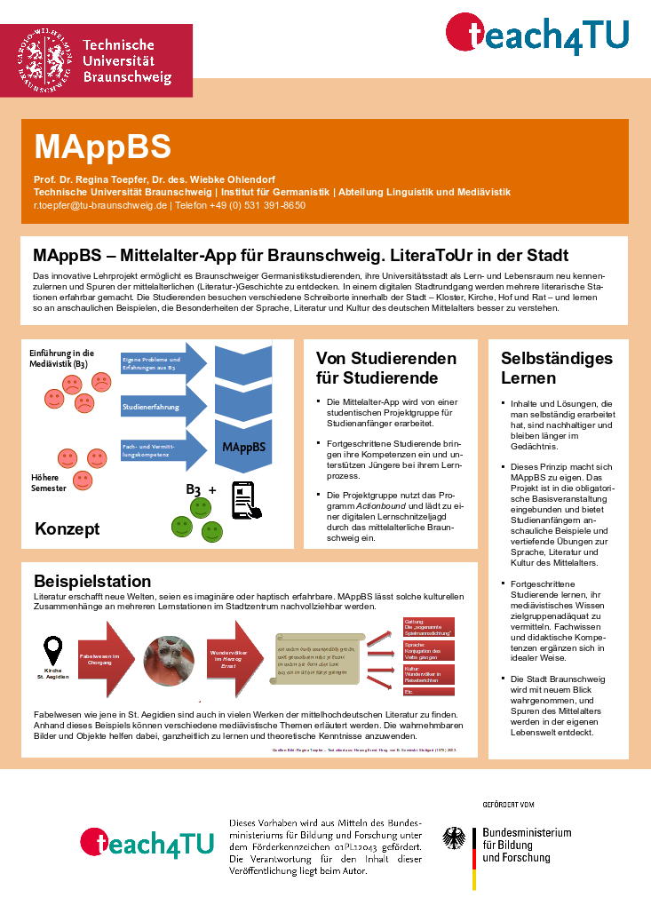 MAppBS Poster Innovationsprogramm teach4TU