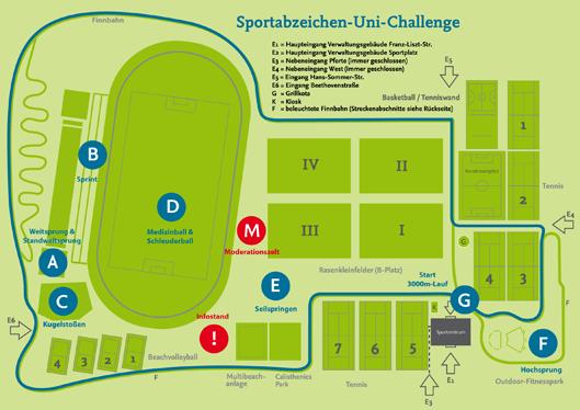 Lageplan Uni Challenge