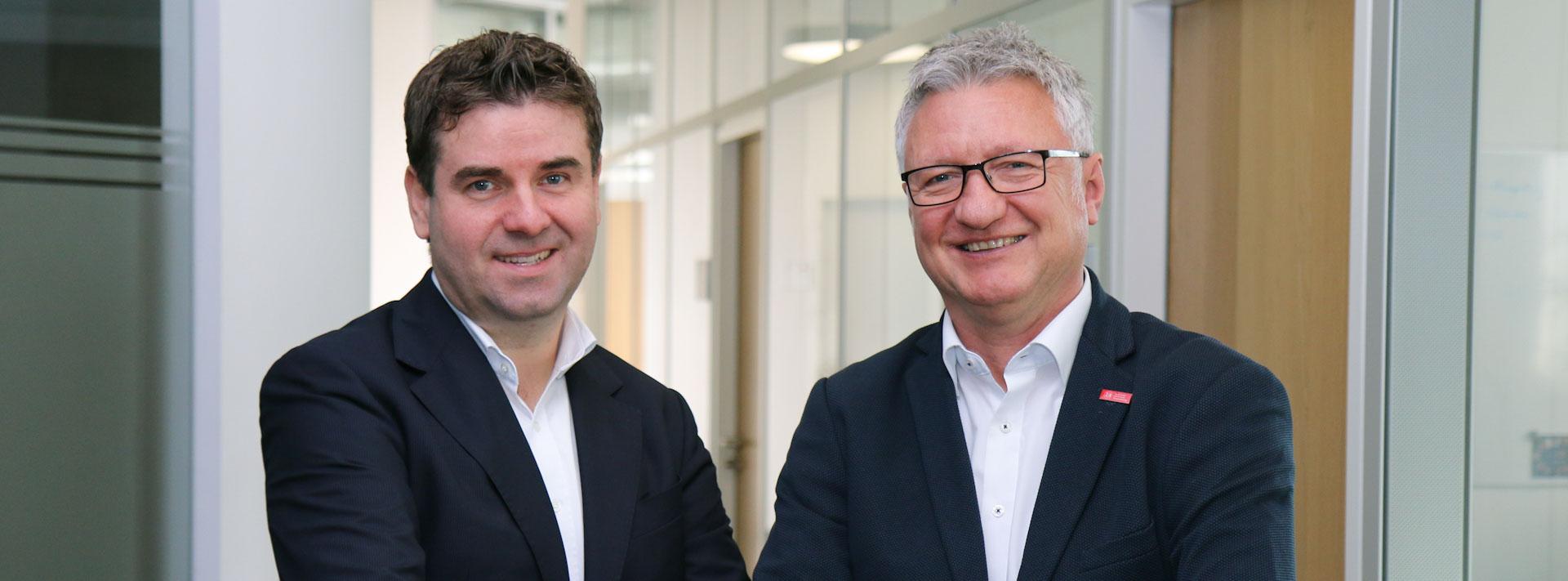 Prof. Dr. David Woisetschläger und Prof. Dr. Thomas Spengler