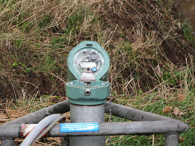 Grundwassermessstelle mit Datenlogger