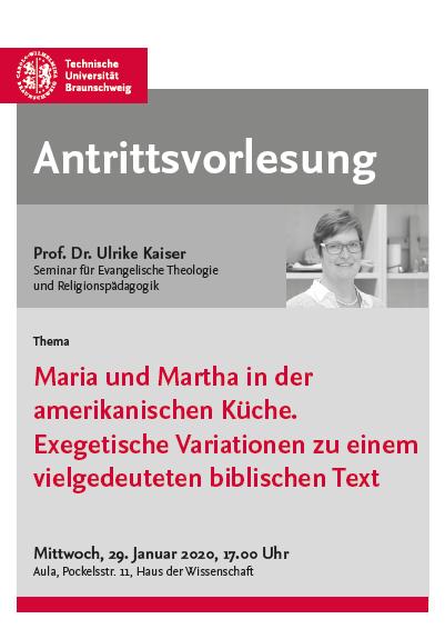 Antrittsvorlesung Ulrike Kaiser