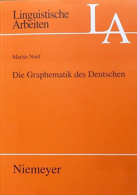 """Titel der Publikation """"Graphematik des Deutschen"""""""