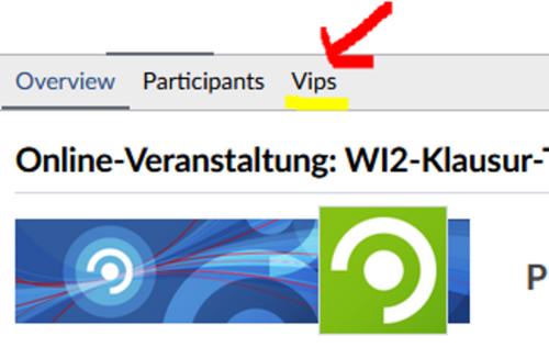 Vips-Tab im Stud.IP