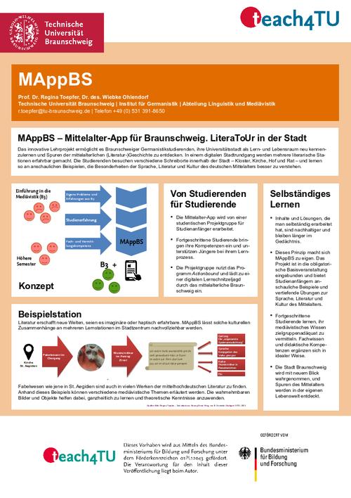 MAppBS Poster Innovationsprogramm teach4TU