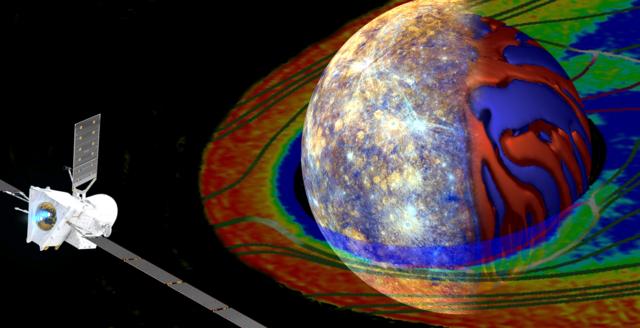 Dies ist ein Bild zum Vortrag von Dr. Daniel Heyner mit dem Titel BepiColombo - Braunschweig fliegt zum Merkur.
