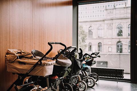 Kinderwagen Forumsgebäude