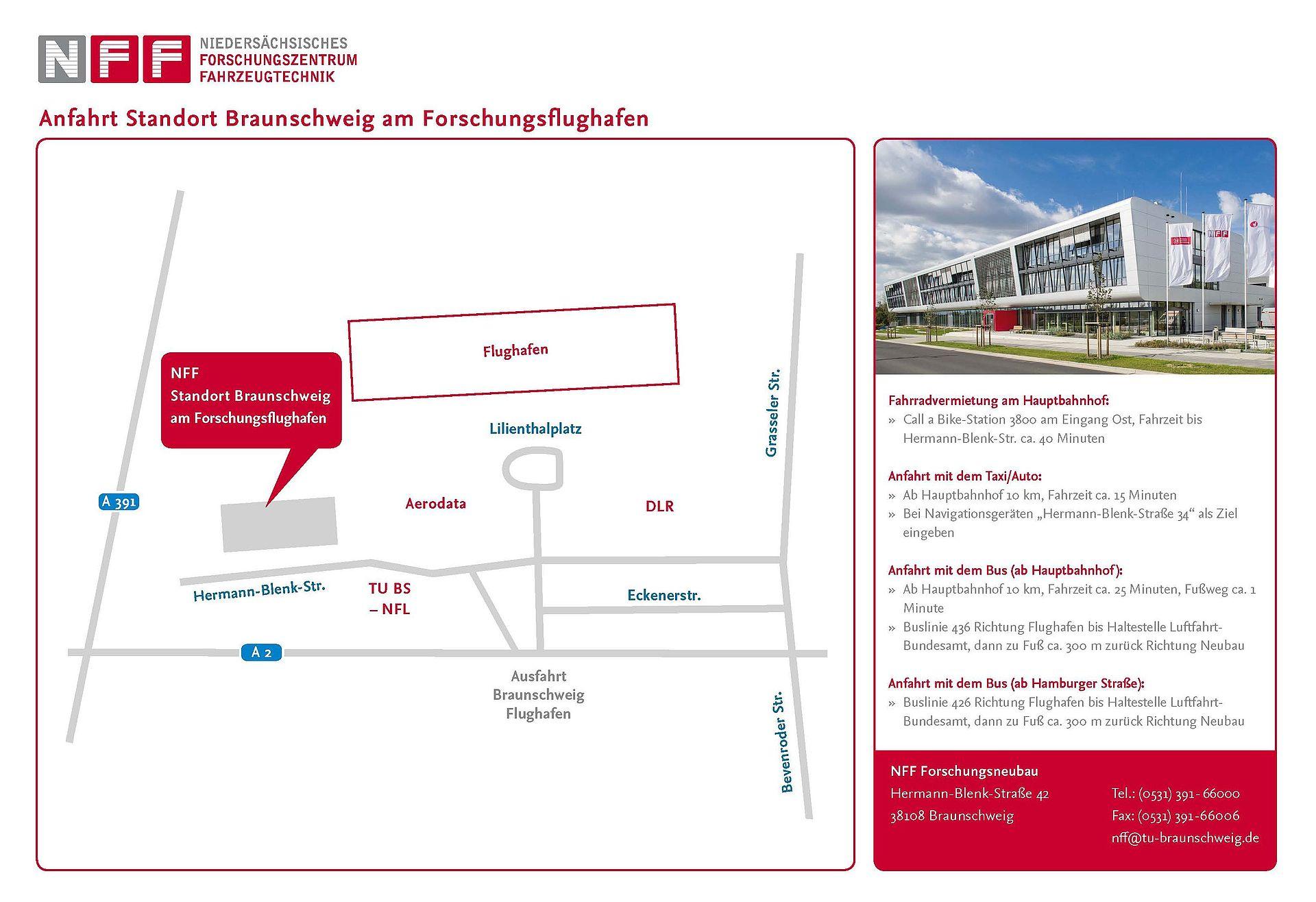 ANfahrtsskizze NFF - Hermann-Blenk-Straße